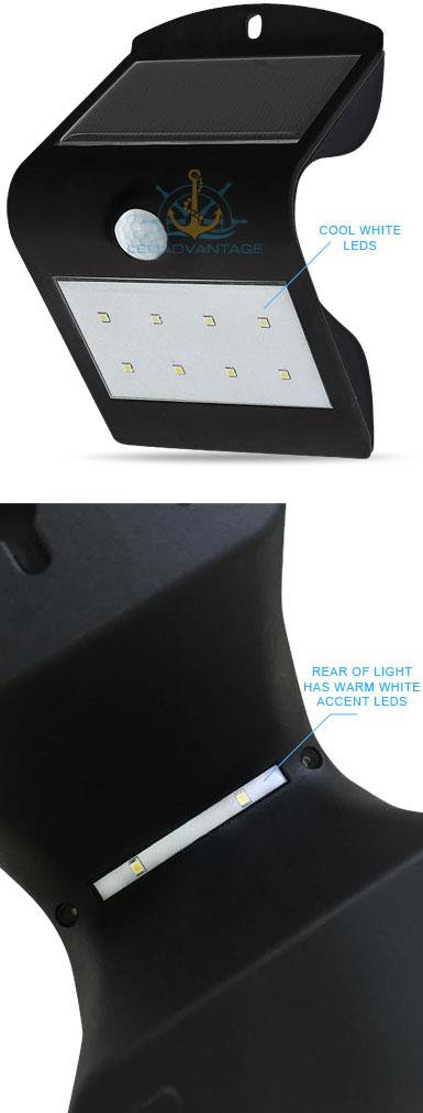 BLACK SMART SOLAR & SENSOR LED WALL MOUNT SECURITY LIGHT - HOME/BOAT/CARAVAN eBay